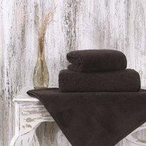 Полотенце Karna Mora, микрокотон, цвет коричневый, размер 50x90 - Karna (Bilge Tekstil)