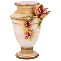 Декоративная Ваза Гранаты Диаметр 20 см Высота 34 см - Ceramiche Stella