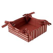 Корзинка для хлеба из хлопка терракотового цвета с принтом Полоски из коллекции Prairie, 30х30 см - Tkano