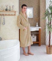 Домашний халат Karna Mora, цвет кофейный, размер 3XL - Karna (Bilge Tekstil)