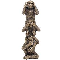 Бронза Три мудрые обезьянки 10x29 см