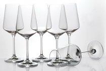 Набор бокалов для вина из 6 шт. САНДРА 350 мл ВЫСОТА=23 СМ. (КОР=8Набор.) - Crystalex