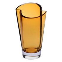 Ваза Krosno Асимметрия 30см, стекло, янтарная - Krosno