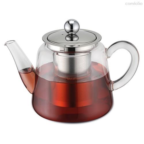Чайник заварочный Weis с металлическим фильтром, 750мл, стекло - Weis