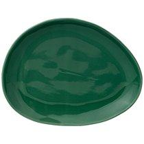 Тарелка Закусочная Meadow 25x19 см Зеленая 4 шт., цвет зеленый, 25 см - Сhaoan Jiabao Porcelain