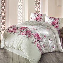Постельное белье Ranforce Belissa, цвет кремовый, размер Евро - Altinbasak Tekstil
