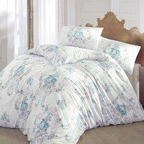 Постельное белье Ranforce Admire, цвет бирюзовый, размер Евро - Altinbasak Tekstil