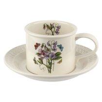 """Чашка чайная с блюдцем Portmeirion """"Ботанический сад. Рельеф. Душистый горошек"""" 260мл - Portmeirion"""