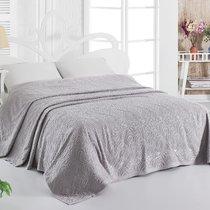 Простынь махровая Karna Esra, цвет серый, размер 200x220 - Karna (Bilge Tekstil)