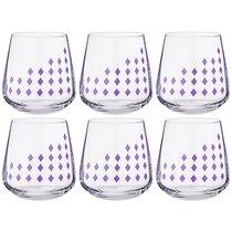 Набор стаканов из 6 шт. SANDRA 290 мл ВЫСОТА=9 СМ - Crystalex