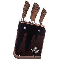 Набор Ножей Agness На Подставке, 6 Предметов - Kitchen King