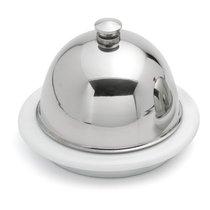 Масленка для порционной сервировки Weis с крышкой Д9,5хН7см, фарфор, сталь нержавеющая, п/к