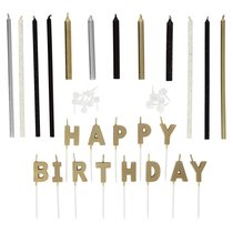 """Свечи для торта Wilton """"С Днем Рождения"""" (металлик), 25 шт - Wilton"""
