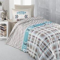 Постельное белье Ranforce Driver Team, подростковое, цвет бежевый, 1.5-спальный - Altinbasak Tekstil