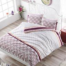 Постельное белье Ranforce Hera, цвет бордовый, 2-спальный - Altinbasak Tekstil