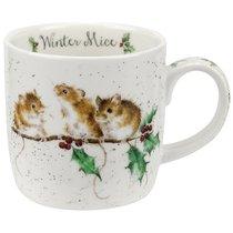 """Кружка 310мл """"Новогодние мышки"""" - Royal Worcester"""