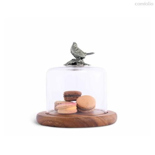 Доска для сыра с крышкой Vagabond House Птичья трель 16,5см, дерево - Vagabond House
