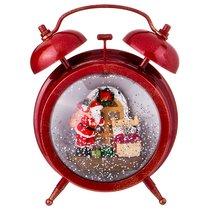 Будильник Новогодний Интерьерный С Музыкой И Подсветкой Цвет Красный 14x8 см Высота 18 см - Polite Crafts&Gifts