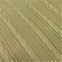 "Плед вязаный ""Beige quadro"", 220х240 см, 89-V305/1, цвет бежевый - Altali"