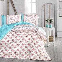 Постельное белье Ranforce Ahsen, цвет бирюзовый, размер Евро - Altinbasak Tekstil