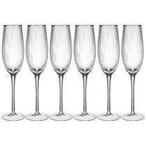 Набор Бокалов Для Шампанского Из 6-Ти шт. Рим Объем 250мл Высота 26см - Dalian