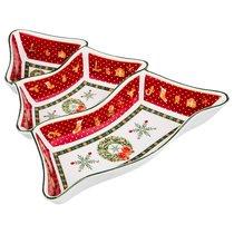 Менажница 3-Х Секционная Christmas Collection 24x24 см Высота 5 см - Сheerful porcelain