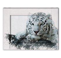 Белый тигр 35х45 см, 35x45 см - Dom Korleone