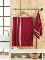 Сауна махра мужская JUANNA 2 предмета SEVAKIN, цвет бордовый - Meteor Textile