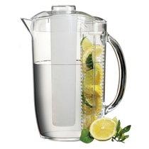 Кувшин для воды с крышкой и емкостью для льда/фруктов Prodyne 2,7л, акрил - Prodyne