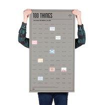 Постер «100 вещей, которые нужно сделать прежде чем умереть» - DOIY