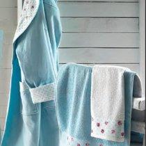 Полотенце банное ATTACCO Turquoise (бирюзовый), цвет бирюзовый, 70x140 - Roseberry