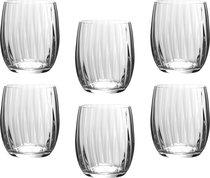 Набор стаканов ДЛЯ ВИСКИ WATERFALL из 6 шт. 300 мл ВЫСОТА 10 см (КОР 8Набор.) - Crystalex