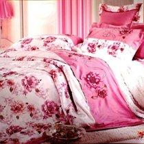 Комплект постельного белья 110-50, цвет розовый, Семейный - Valtery
