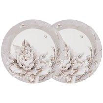 Набор Из 2 Тарелок Закусочных Lefard White Flower 23 см Серый - Jinding