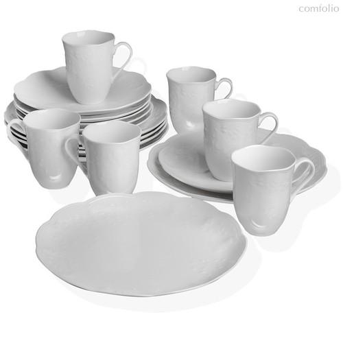 """Сервиз чайно-столовый Lenox """"Бабочки на лугу"""" на 6 персон 18 предметов (белый, рельеф) - Lenox"""