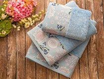 Полотенце банное Mabella Mavi, цвет голубой, размер 50x90 - Irya
