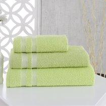 Полотенце махровое Karna Petek, цвет зеленый, 70x140 - Bilge Tekstil
