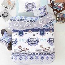 Постельное белье Ranforce Athletik, цвет голубой, 1.5-спальный - Altinbasak Tekstil