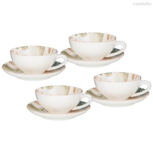 Чайный Набор Bronco Aquarelle 200 мл На 4 Пер. 8 Пр. - Songfa ceramics