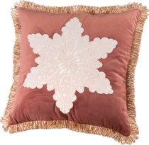 Декоративная Подушка 46x46 см, Снежинка П/Э 100%, Чайная Роза - Santalino