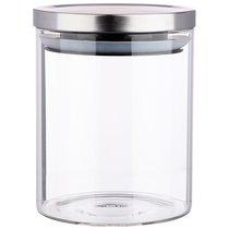 Емкость для сыпучих agness монблан , 850 мл боросиликатное стекло - Agness