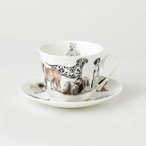 Чайная пара для завтрака Собаки 500мл