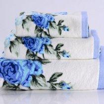 Rosy-3 Полотенце банное, цвет голубой, 50x90 - Valtery