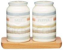 Классик Набор соль и перец на деревянной подставке 12х9см - Kitchen Craft