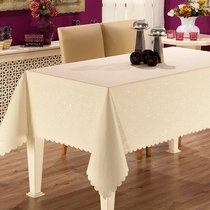 Скатерть Karna Prapitka Gofrali тефлон, цвет кремовый, размер 160x210 - Karna (Bilge Tekstil)
