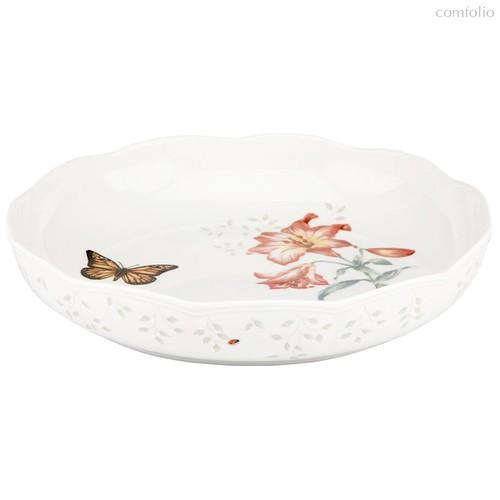 "Блюдо круглое Lenox ""Бабочки на лугу"" 27см - Lenox"