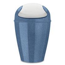 Корзина для мусора с крышкой DEL M Organic 12 л синяя - Koziol