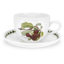 """Чашка для завтрака с блюдцем Portmeirion """"Помона.Вишня"""" 500мл - Portmeirion"""
