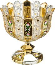 Конфетница На Ножке Lefard Gold Glass Диаметр 24 см Высота 25 см - I AND A
