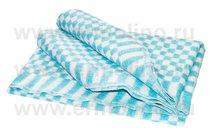 Бирюзовое Мелкая Клетка 5772В 205х140 75% х/б +25% ПАН Байковое Ермолино одеяло, цвет бирюзовый - Ермолино